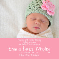 sample birth announcements - Template